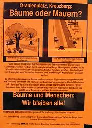 Baumschutz-Plakat