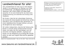 BI-Postkarte an Junge-Reyer und Tiefensee