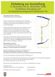 BA-Einladungsplakat Varianten-Ausstellung