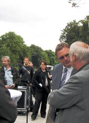 WSD-Chef Menzel und Bürgermeister Schulz