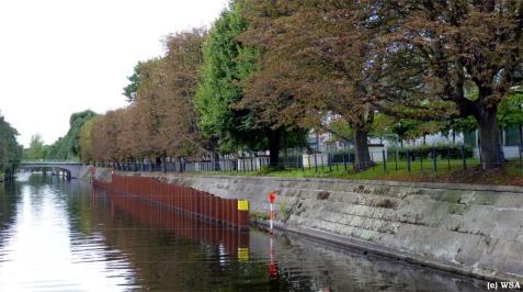 Corneliusstraße mit unfertiger Verspundung