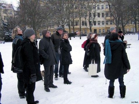 MediatorInnen und Forumsmitglieder im Urbanhafen, Dezember 2010