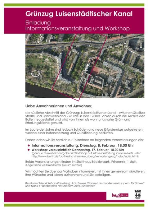 Stattbau-Einladungsplakat