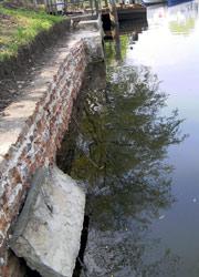 Freigelegte Mauer