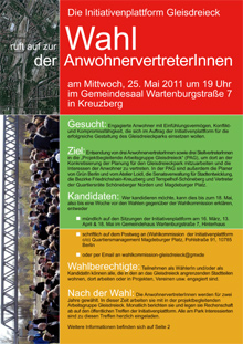 Wahlflyer der Initiativenplattform