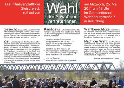 Wahlaufruf-Iniplattform 2011