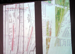 Alternativplanung zu den Eingängen Monumentenbrücke