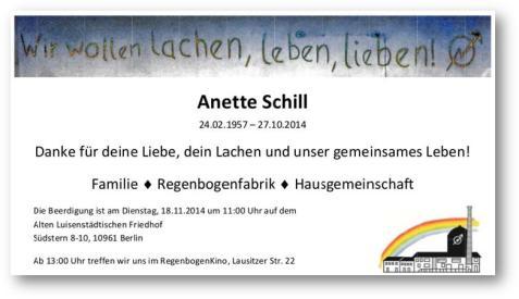 Abschied von Anette