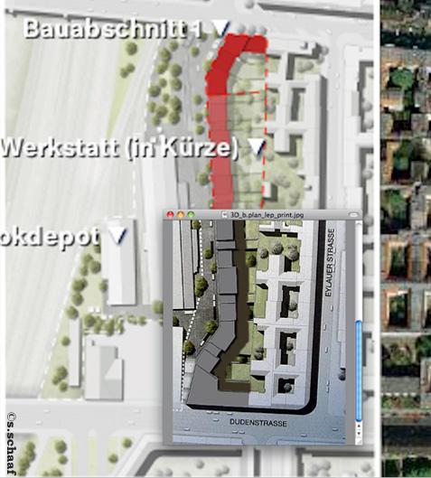 Robert9-Plan: alter Entwurf oben grau, der neue darunter in rot