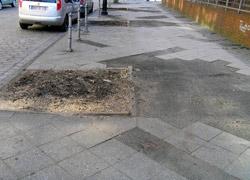 Verkehrsgefährdende Barriere?