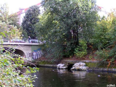 Hobrechtbrücke, Alter Auslauf