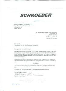 Mühlhaupt-Kündigung durch Schröder