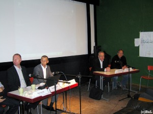 BWB-Vertreter, Xhains Umweltstadtrat Panhoff