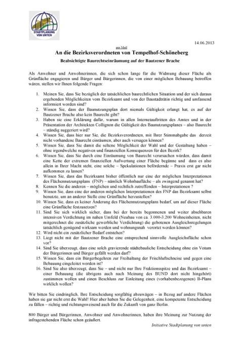 ISUV-Fragen zur BB