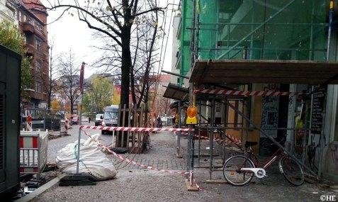 Gefahrengerüst Friedelstraße