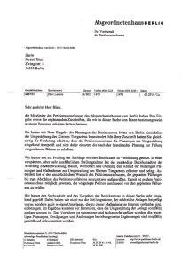 Petitionsablehnungsbescheid