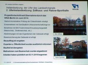 Baumßnahmen Flatow-Halle + Zollhaus