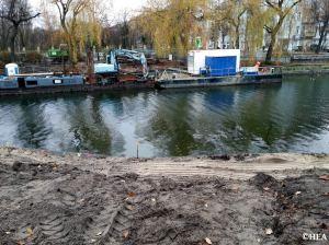 BWB-Baustelle Görlitzer Ufer/Lohmühlenstraße