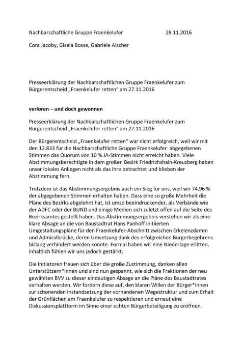 Pressemeldung NGF, 28.11.16