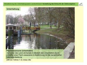 Geplante Urbanhafen-flachwasser