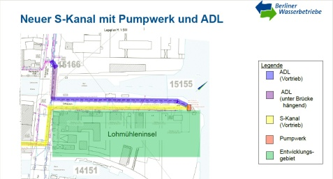 Schmutzwasserkanal, Pumpwerk + ADL