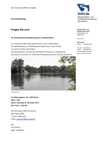 Einladung zur 10. WSA-Infoveranstaltung